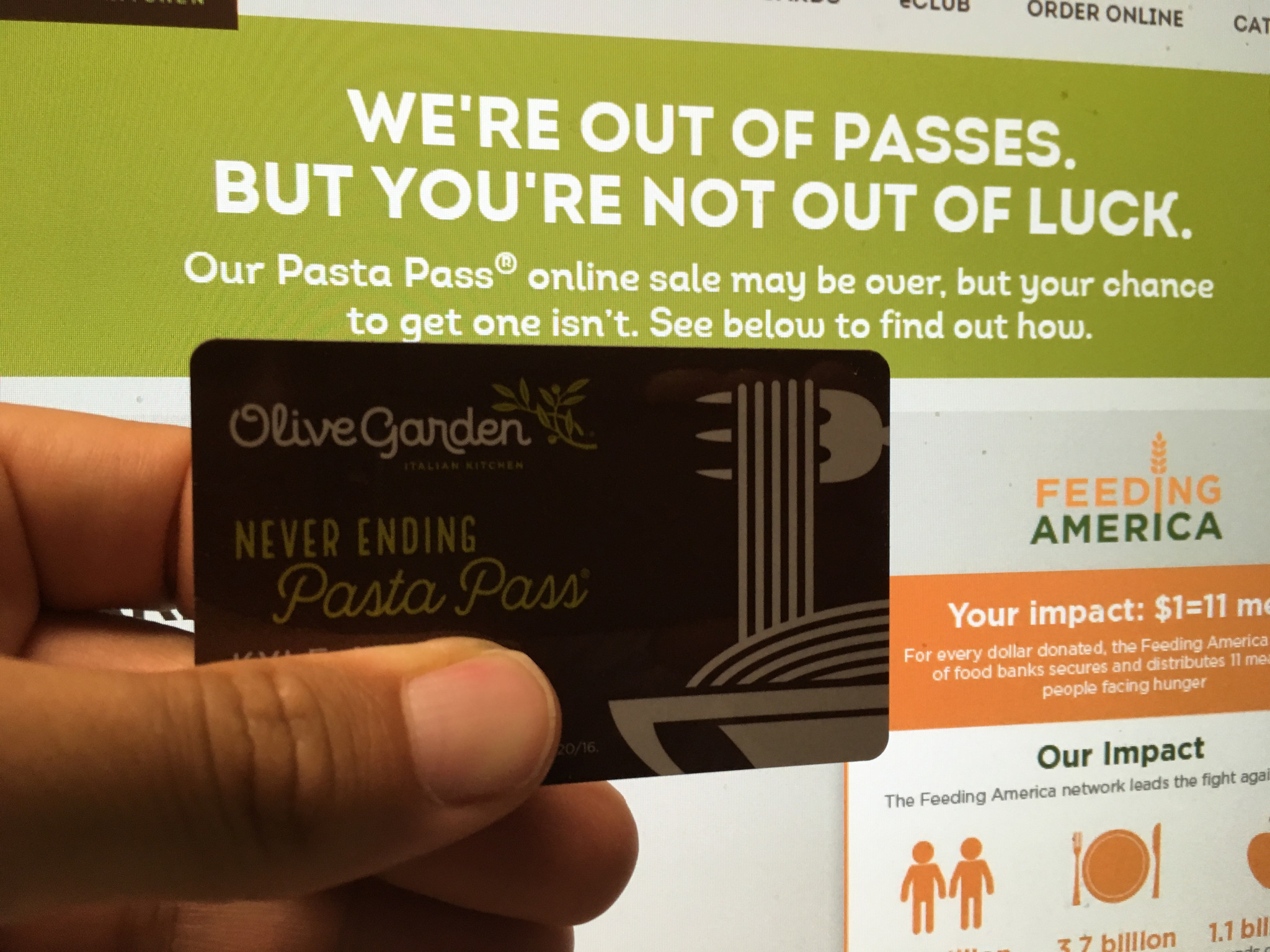 olive garden sells out of 21000 never ending pasta passes in minutes orlando sentinel - Olive Garden Online Ordering