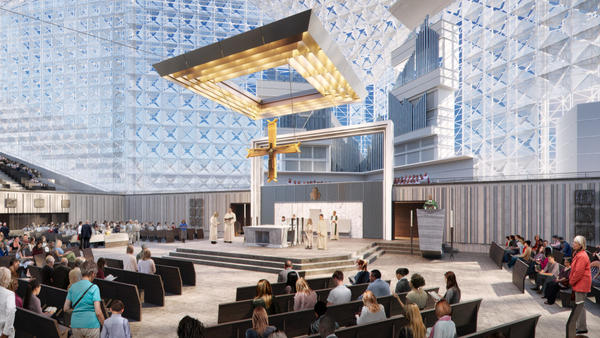 Artist rendering of the new Christ Cathedral altar.
