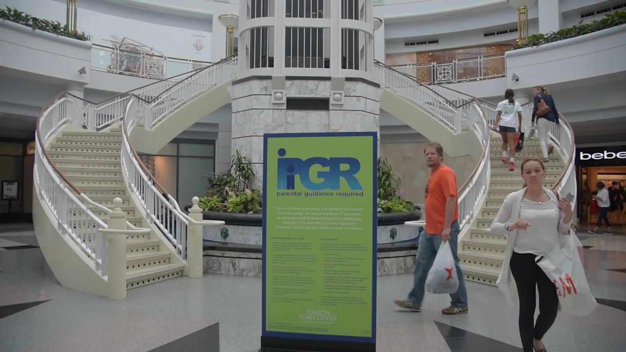 The Towson Town Center is a popular, family-friendly mall that people of all ages go to hangout and enjoy themselves, but on weekends, in particular, there's a problem that has surfaced involving large groups of teenagers crowding the mall and creating a ruckus.