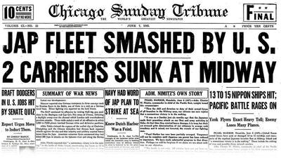 Archives: Jap fleet smashed by U.S.; 2 carriers sunk at Midway