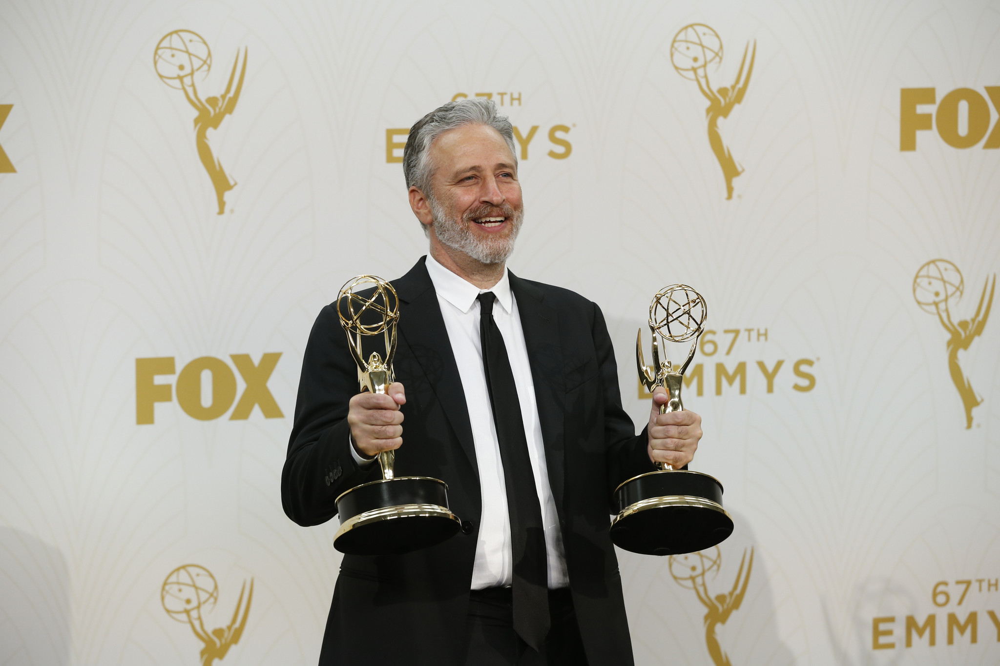 """The Daily Show's"" Jon Stewart at the 2015 Emmy Awards. (Allen J. Schaben / Los Angeles Times)"