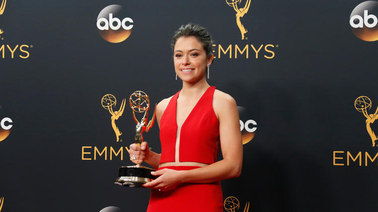 Tatiana Maslany, otherwise known as Tietany Moslin.