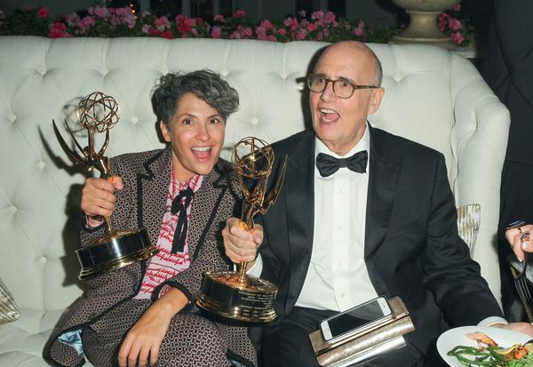 """Transparent's"" Jill Soloway and Jeffrey Tambor after their wins at the Emmys earlier this year. (Buchan / Variety / REX / Shutterstock)"