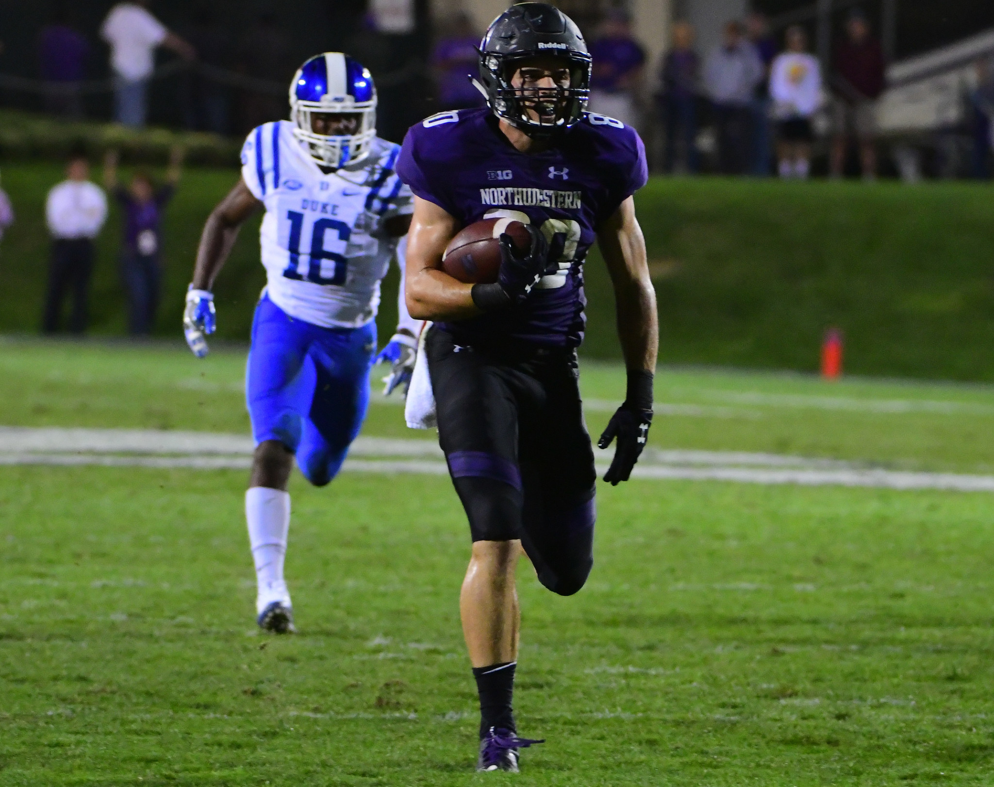 Northwestern receiver Austin Carr is a beast in more ways than one