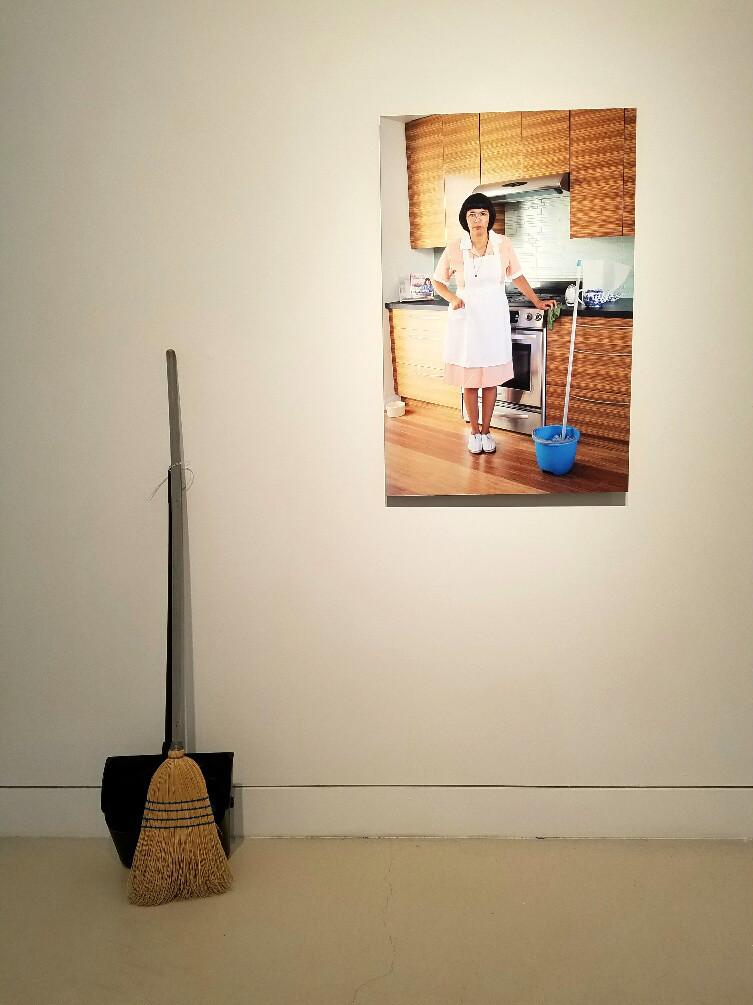 "Claudia Cano, ""Rosa Hernandez — the cleaning lady,"" 2012-16, mixed media."