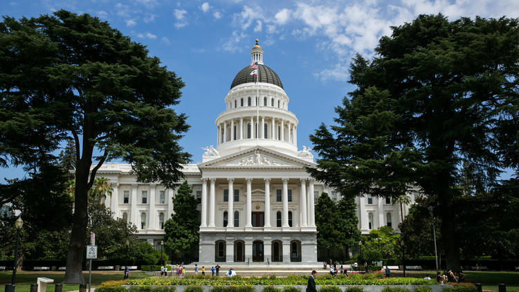 The California Capitol in Sacramento. (Francine Orr / Los Angeles Times)