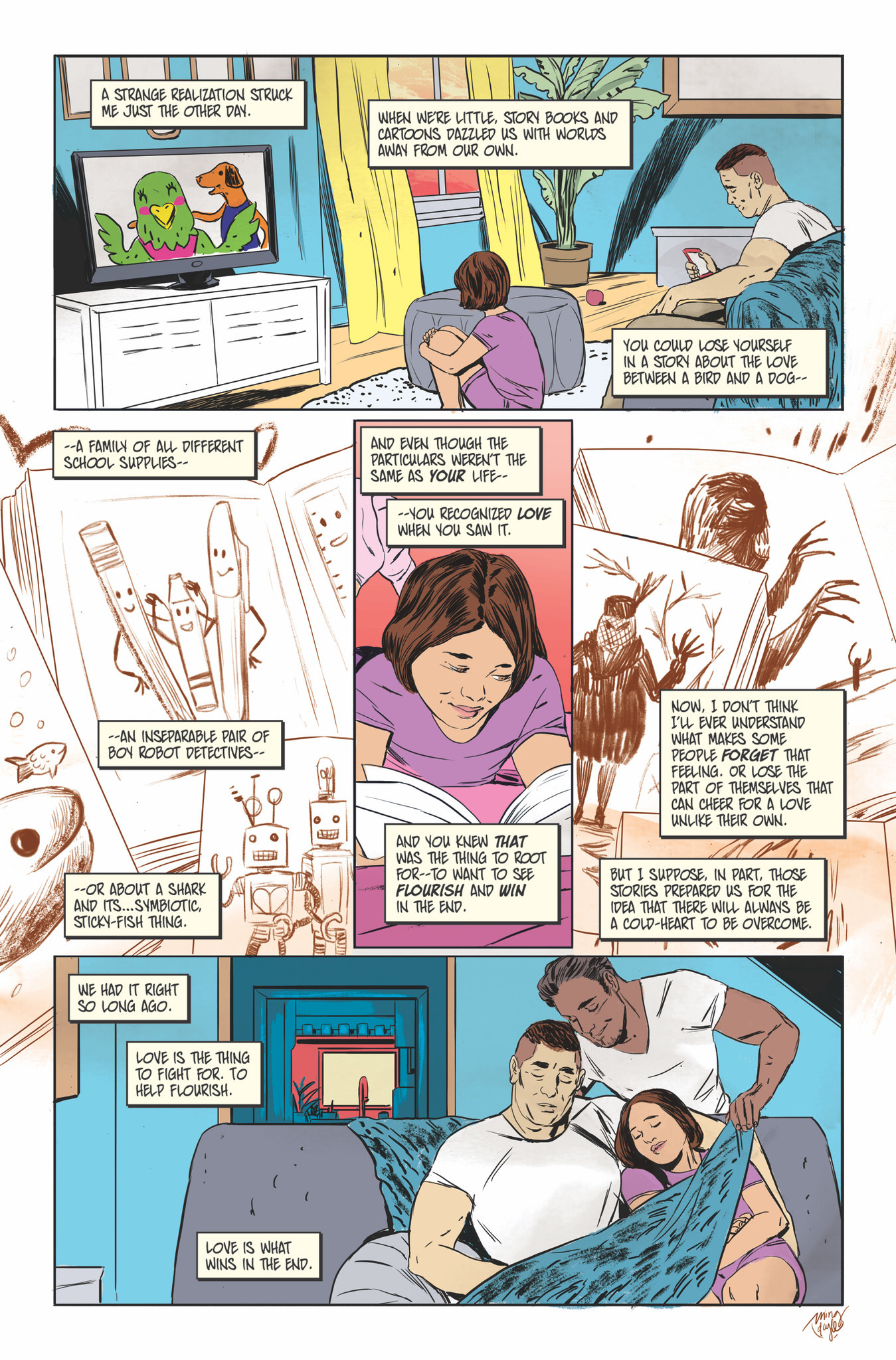 "A page from ""Love Is Love"" by James Asmus and Ming Doyle."