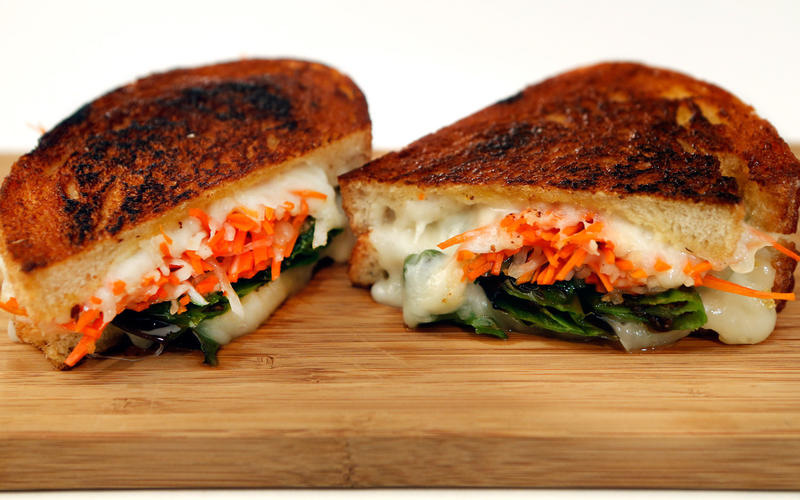 Shishito grilled cheese sandwich