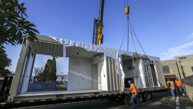 O.C. nonprofit recycles shipping containers into homes for homeless vets