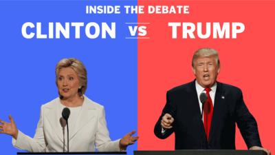 Debate details of Trump and Clinton