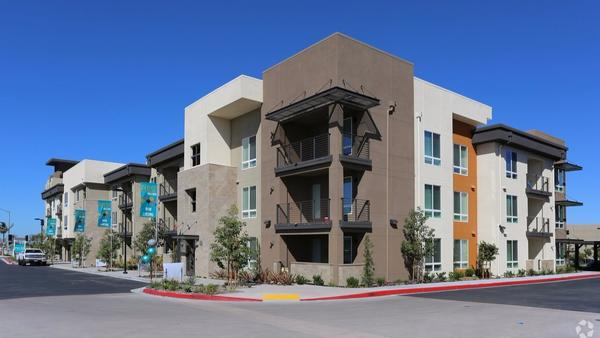 Rent control is returning as an issue in high-priced San Diego County. This image shows Pulse Millenia in Chula Vista.