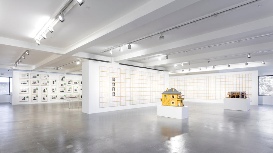 An installation view of Hanne Darboven's exhibition at Sprth Magers in Los Angeles.