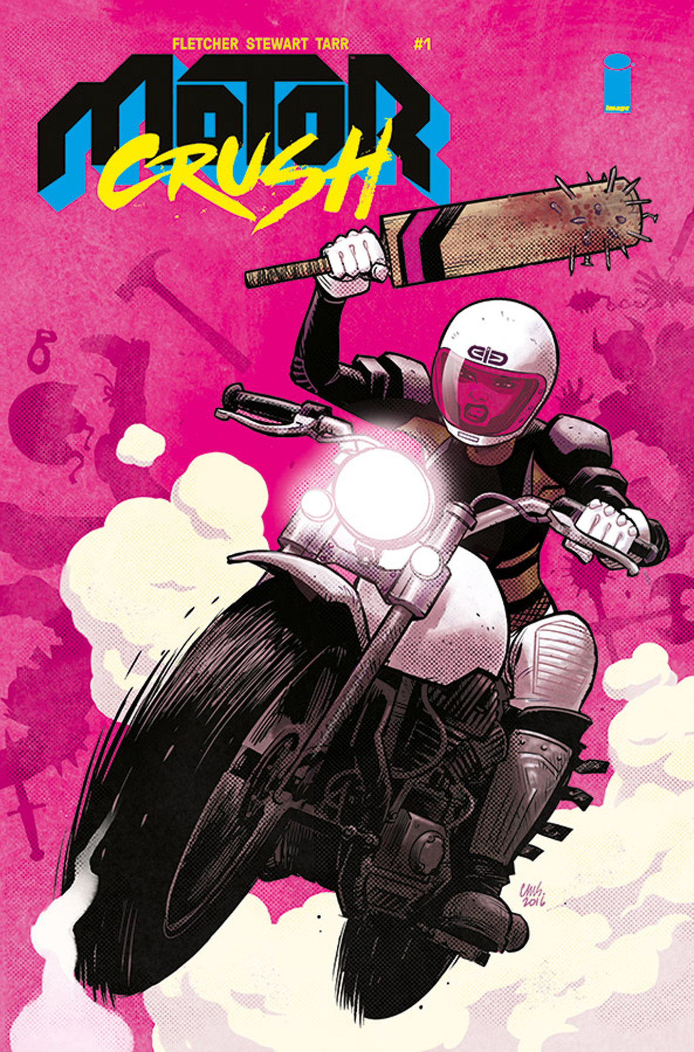 """""""Motor Crush"""" No. 1 cover by Cameron Stewart."""