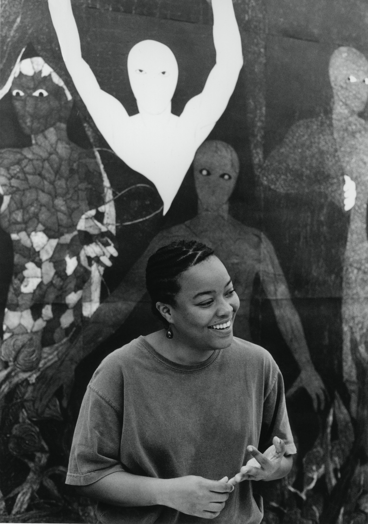 Belkis Ayon at the Havana Galerie, Zurich, Aug. 23, 1999.