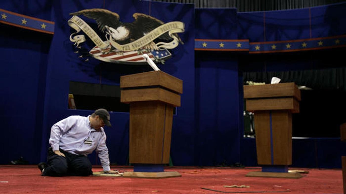 The first presidential debate is Monday. (Jeff Roberson / Associated Press)