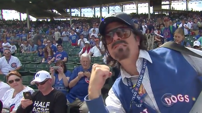 Watch Stephen Colbert's turn as Cubs hot dog vendor Donny Franks