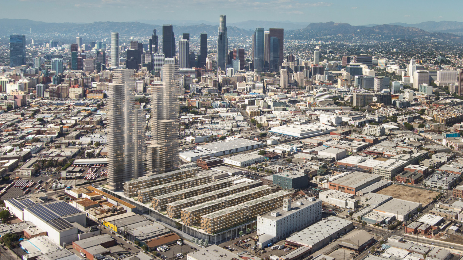 towering development is proposed for l a s arts district an