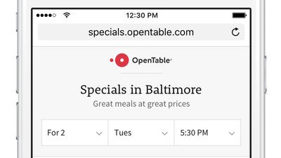 Baltimore is test market for new OpenTable feature that helps restaurants showcase specials