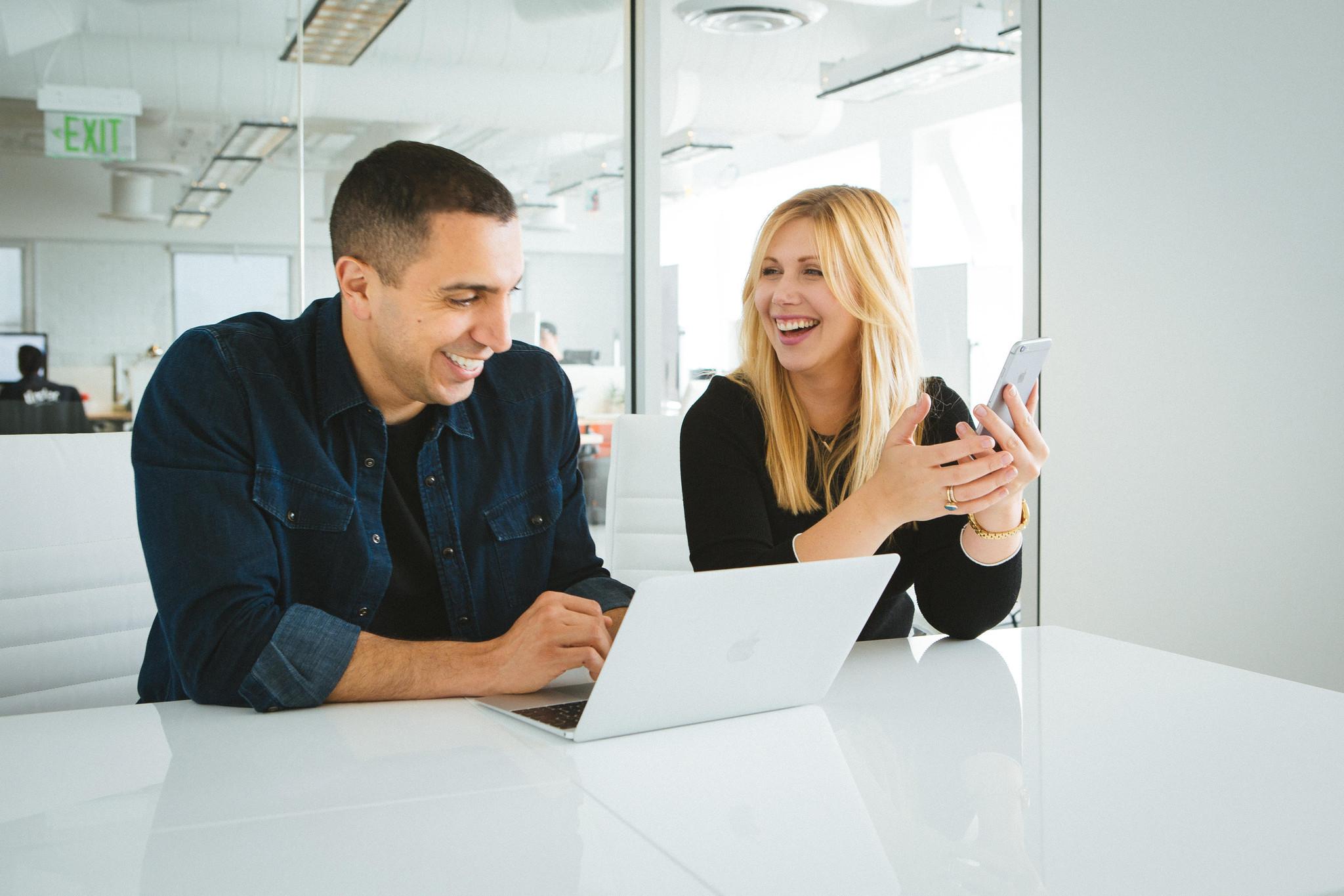 Tinder Chief Executive Sean Rad and Vina founder Olivia June Poole.