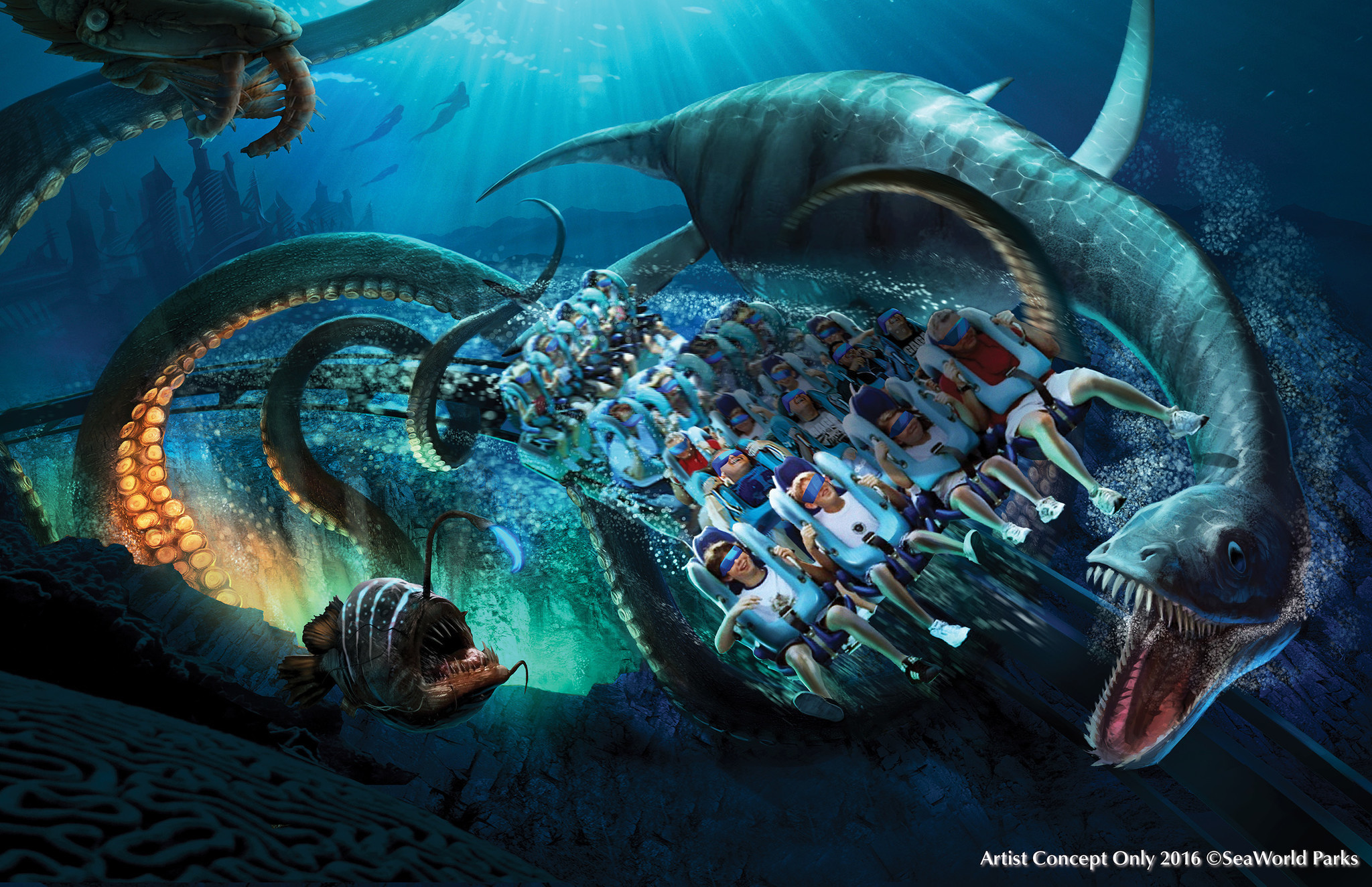 Image result for kraken vr roller coaster