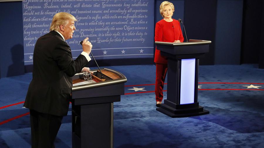 Presidential debate: Hillary Clinton and Donald Trump