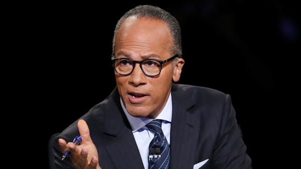 Lester Holt gets out of the way as moderator, and the spin room approves