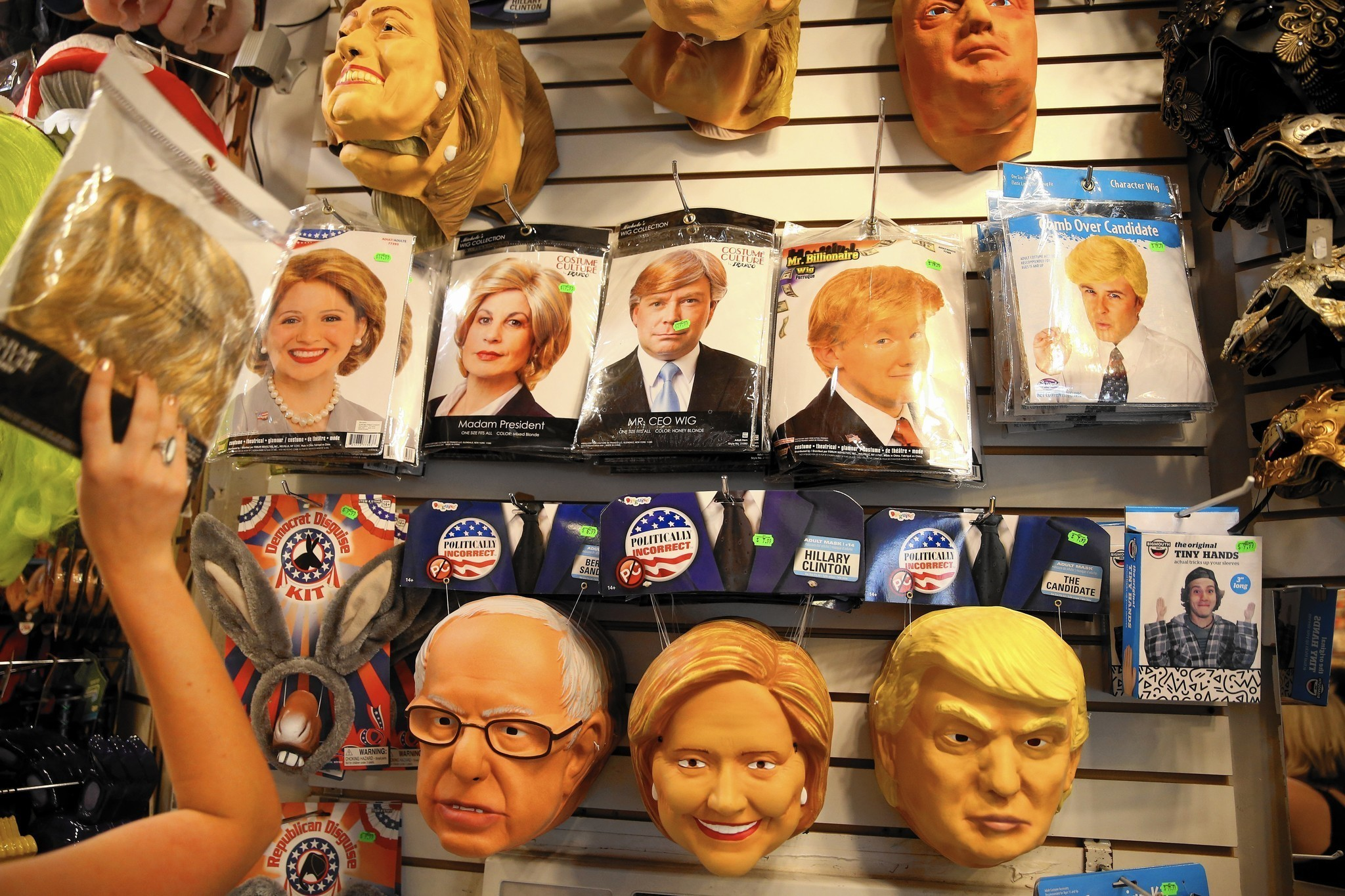this election year costume shops are declaring an early victory chicago tribune - President Halloween Mask