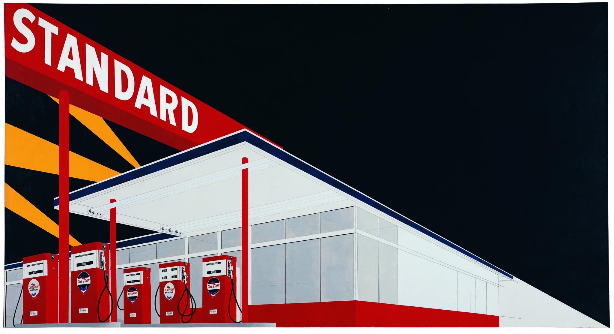 "Ed Ruscha's ""Standard Station, Amarillo, Texas, "" 1963."