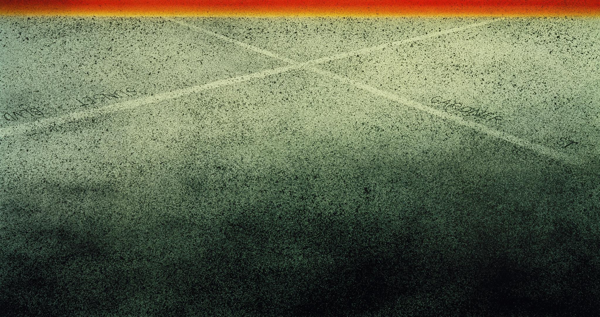 "Ed Ruscha's ""Sunset-Gardner Cross,"" 1998-1999."