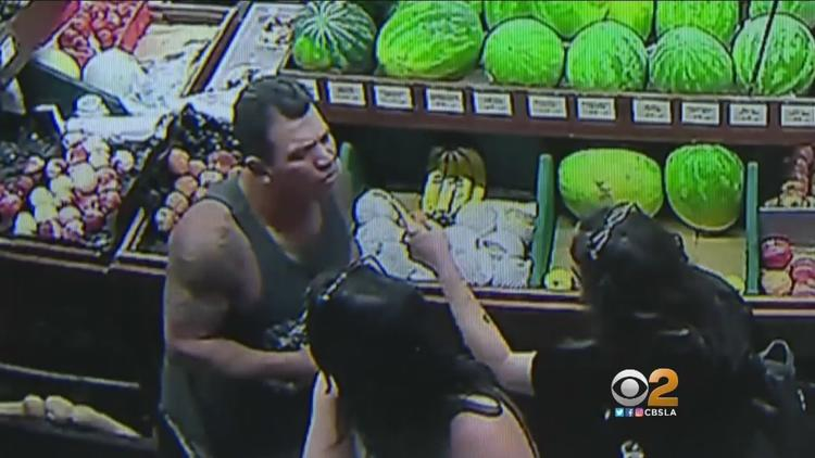 Man Caught On Camera Punching Woman Outside Venice Grocery Store