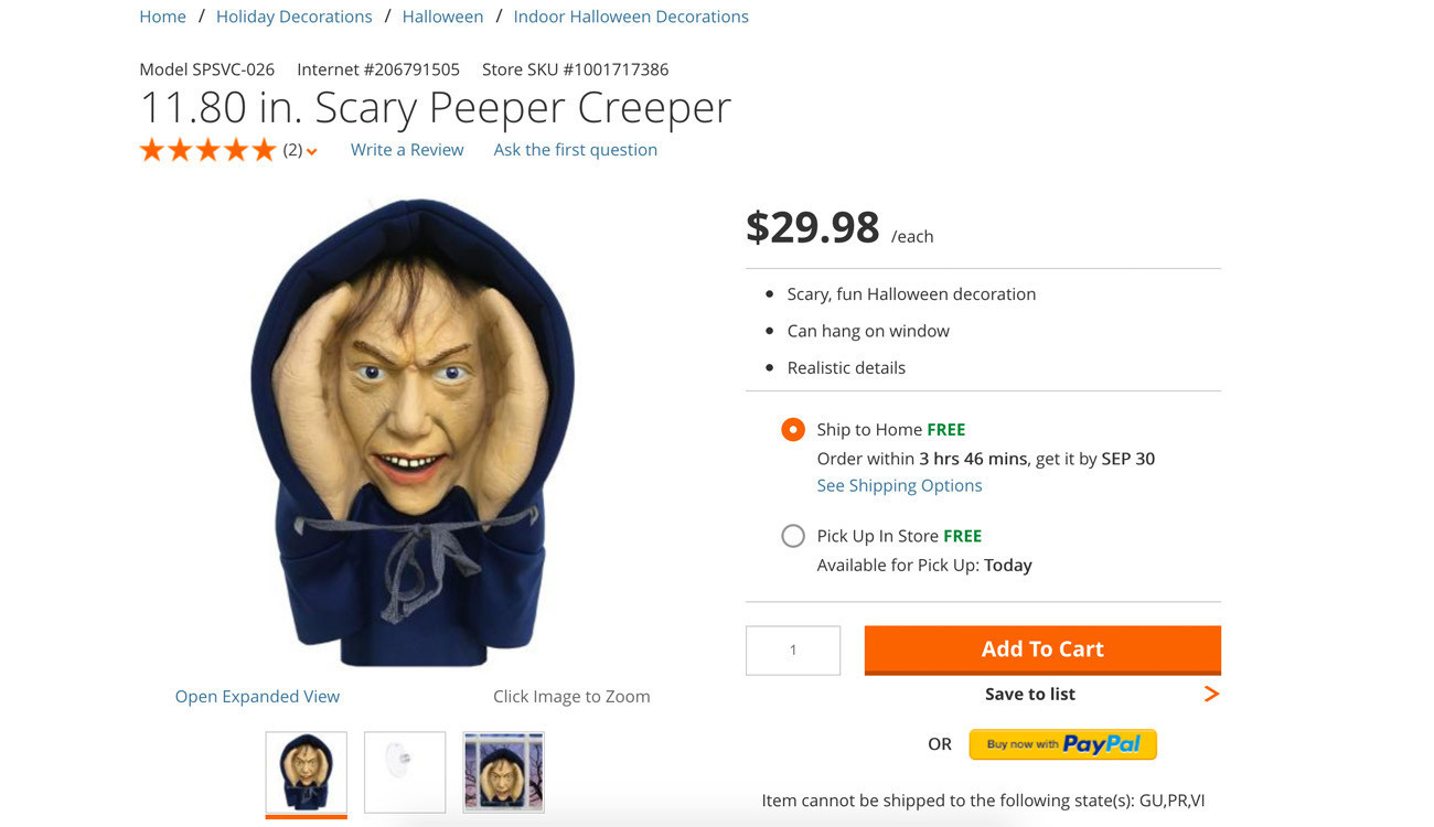 Home Depot pulls peeping Tom Halloween decoration after Toronto