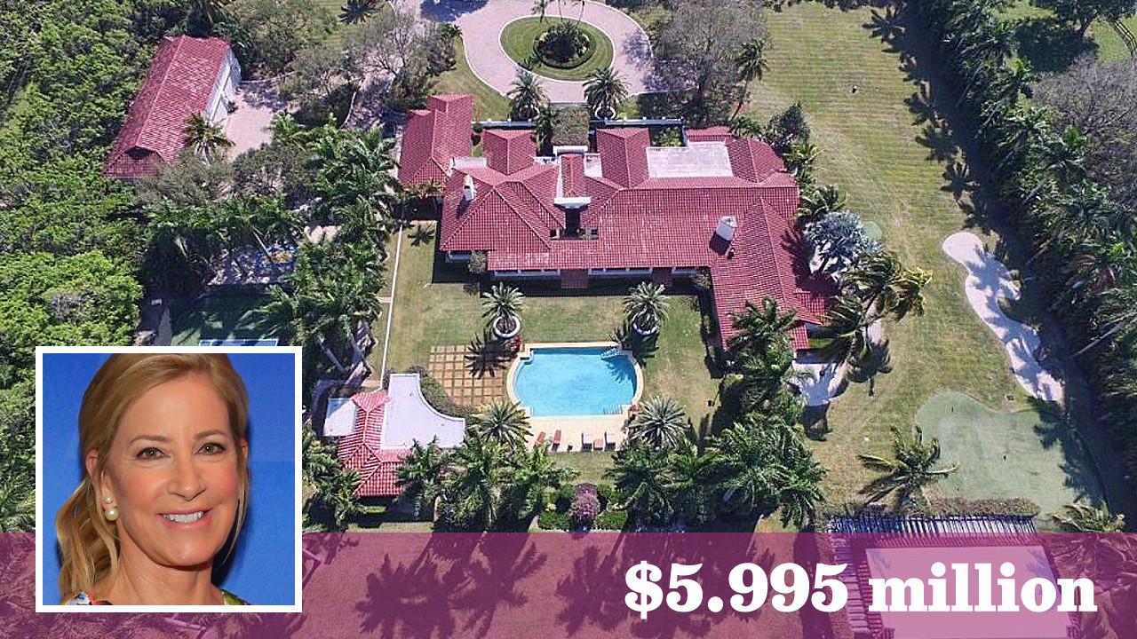 Tennis great Chris Evert lists her Boca Raton Fla mansion for