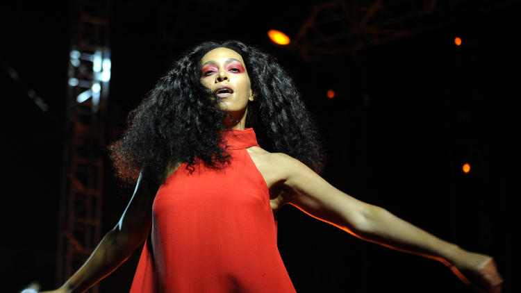 Solange, seen performing at FYF Fest in 2015. (Christina House / For The Times)