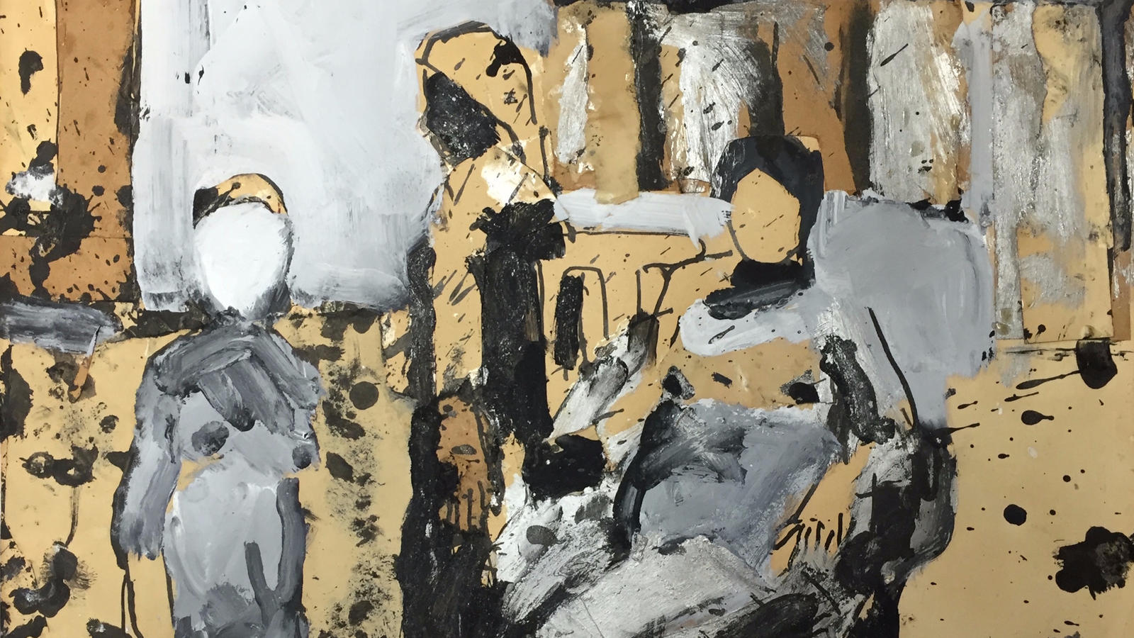 """A detail from Joan Brown's """"Three Figures,"""" painted c. 1965, part of a group show of Bay Area artists at the Landing."""