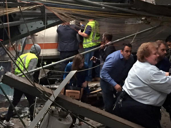 Commuter train crashes at busy New Jersey station: 1 dead, 108 injured