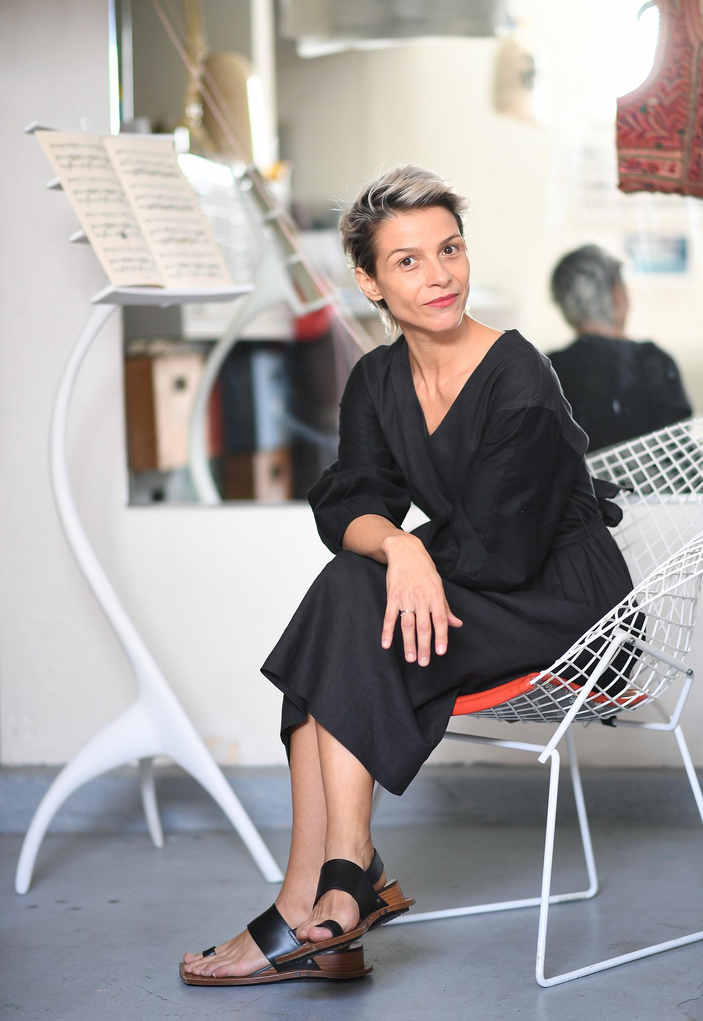 Ana Prvacki in her home studio in Venice.
