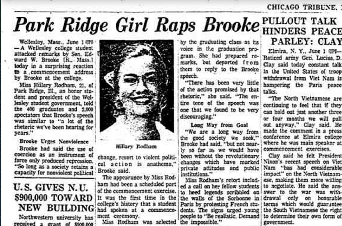 When The Chicago Tribune Scolded A 39 Girl 39 Named Hillary