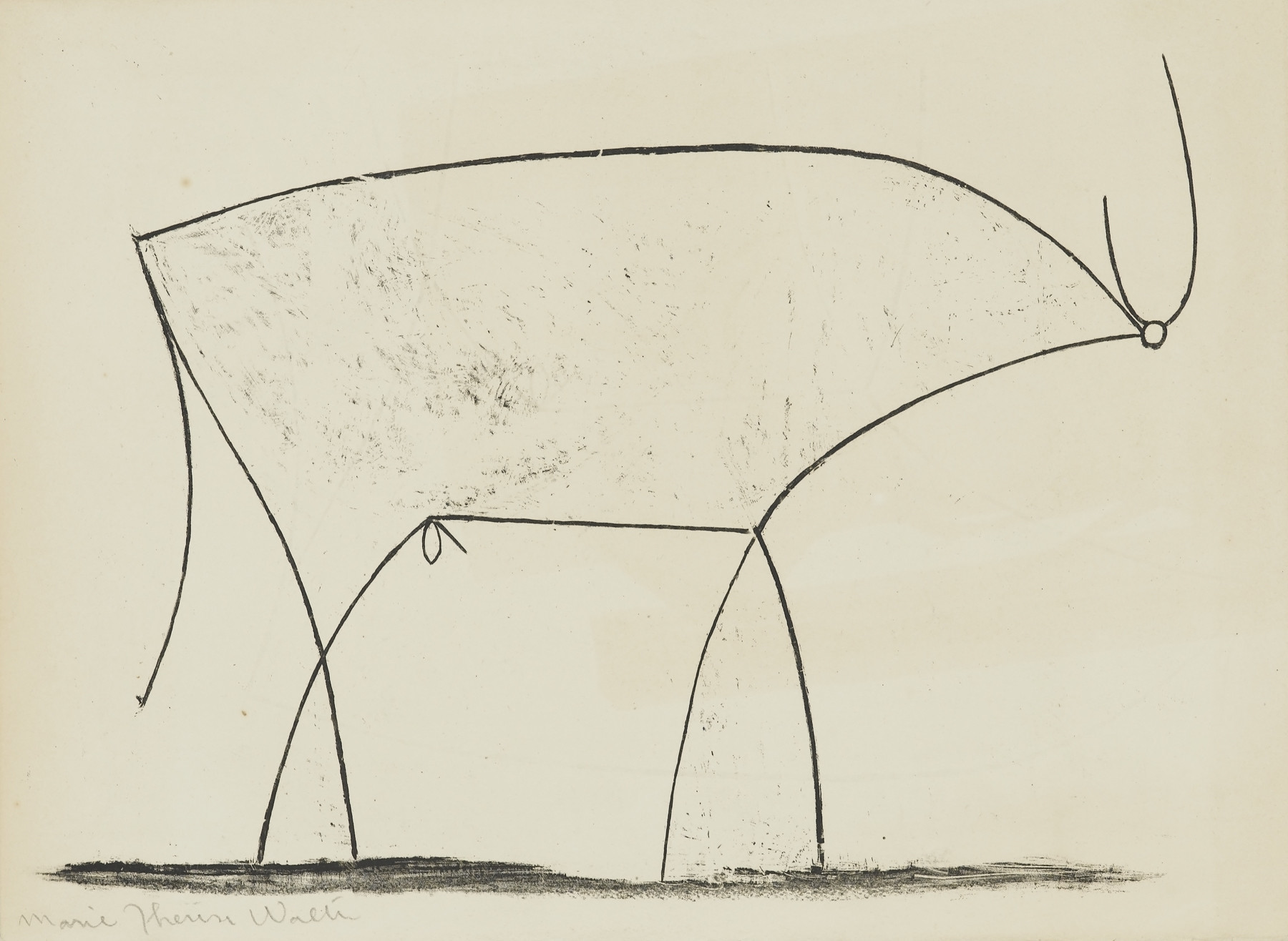 """The Bull,"" 1945. Lithograph, 11th state."