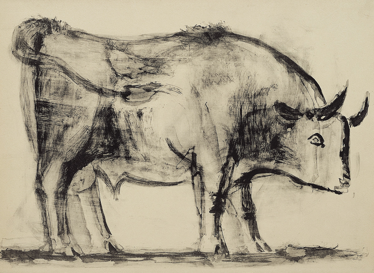 """The Bull,"" 1945. Lithograph, first state."