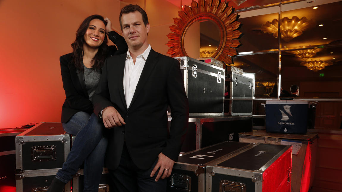 """Westworld"" show runners Lisa Joy and Jonathan Nolan. (Genaro Molina / Los Angeles Times)"