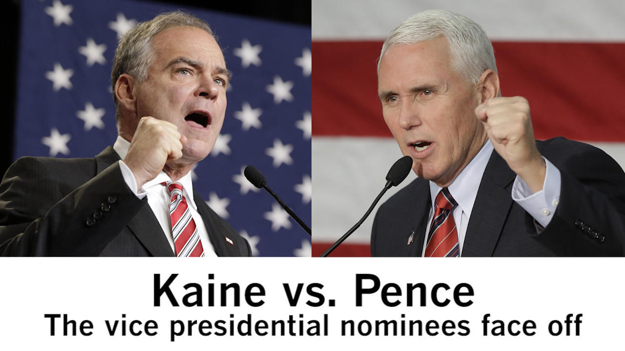 Image result for Kaine Vs Pence Debate