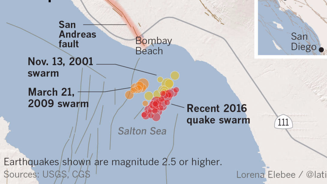 Unusual Earthquake Warning Prompts Action Anxiety In Southern - Salton sea on us map
