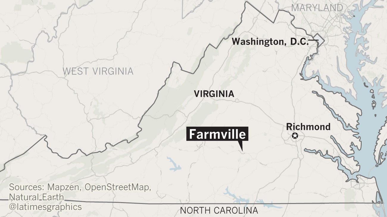 Where Is Farmville This Virginia Debate Town With A Dark Past Is - Los angeles va map