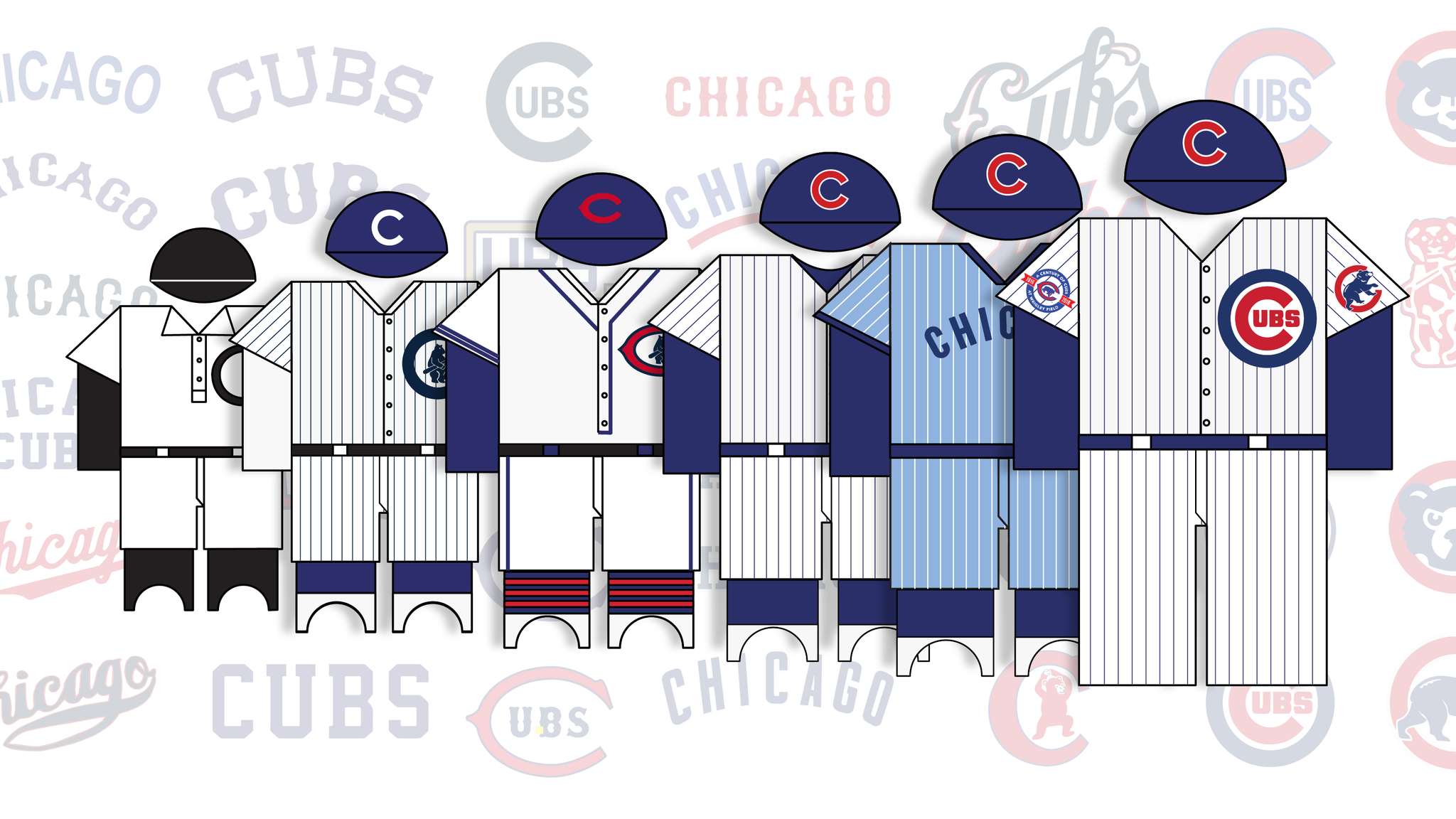 113 years of Cubs uniforms f0bfd88baf6