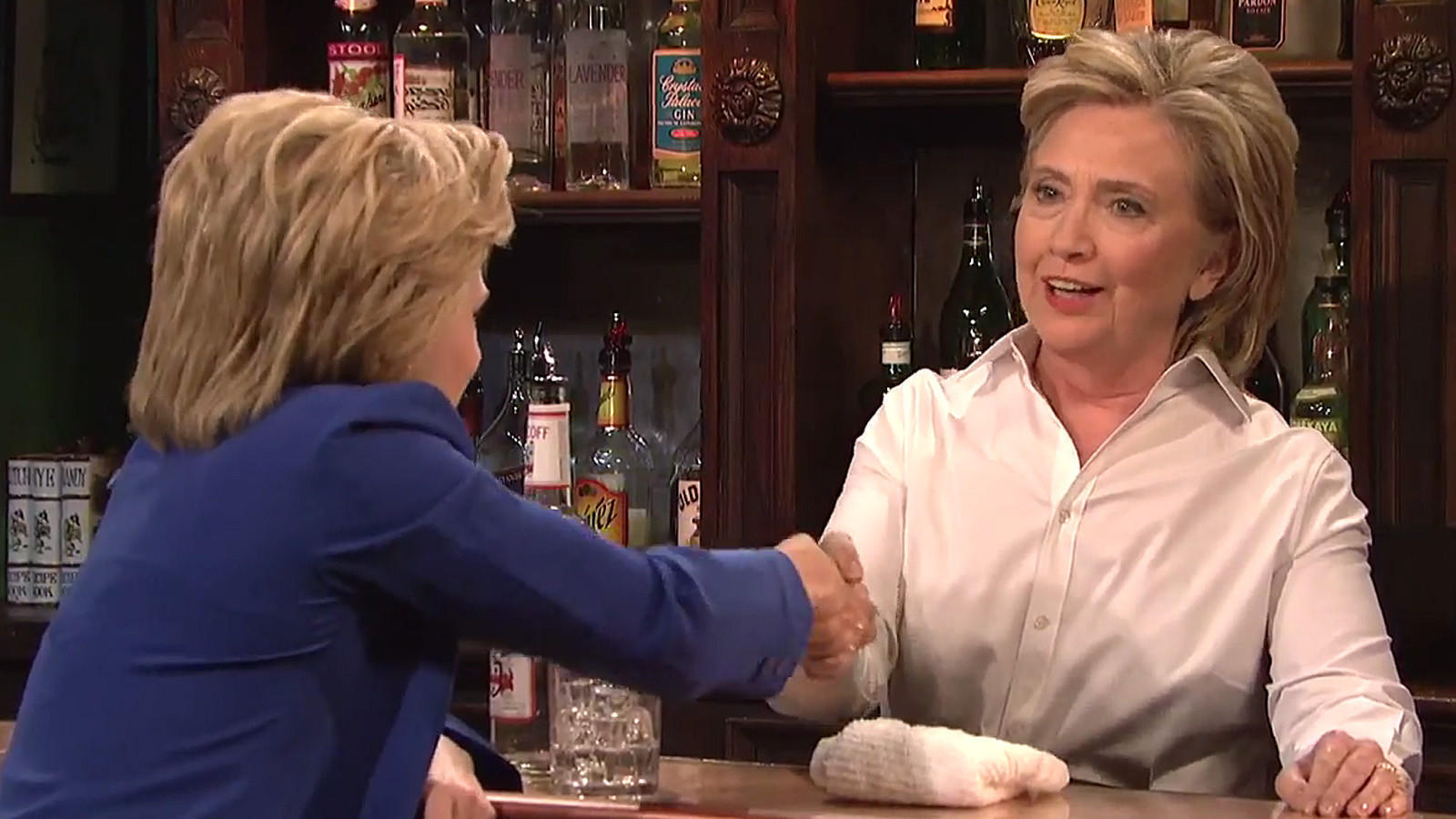 clinton yearns to do somersaults after watching u0027snl u0027 spoof la times