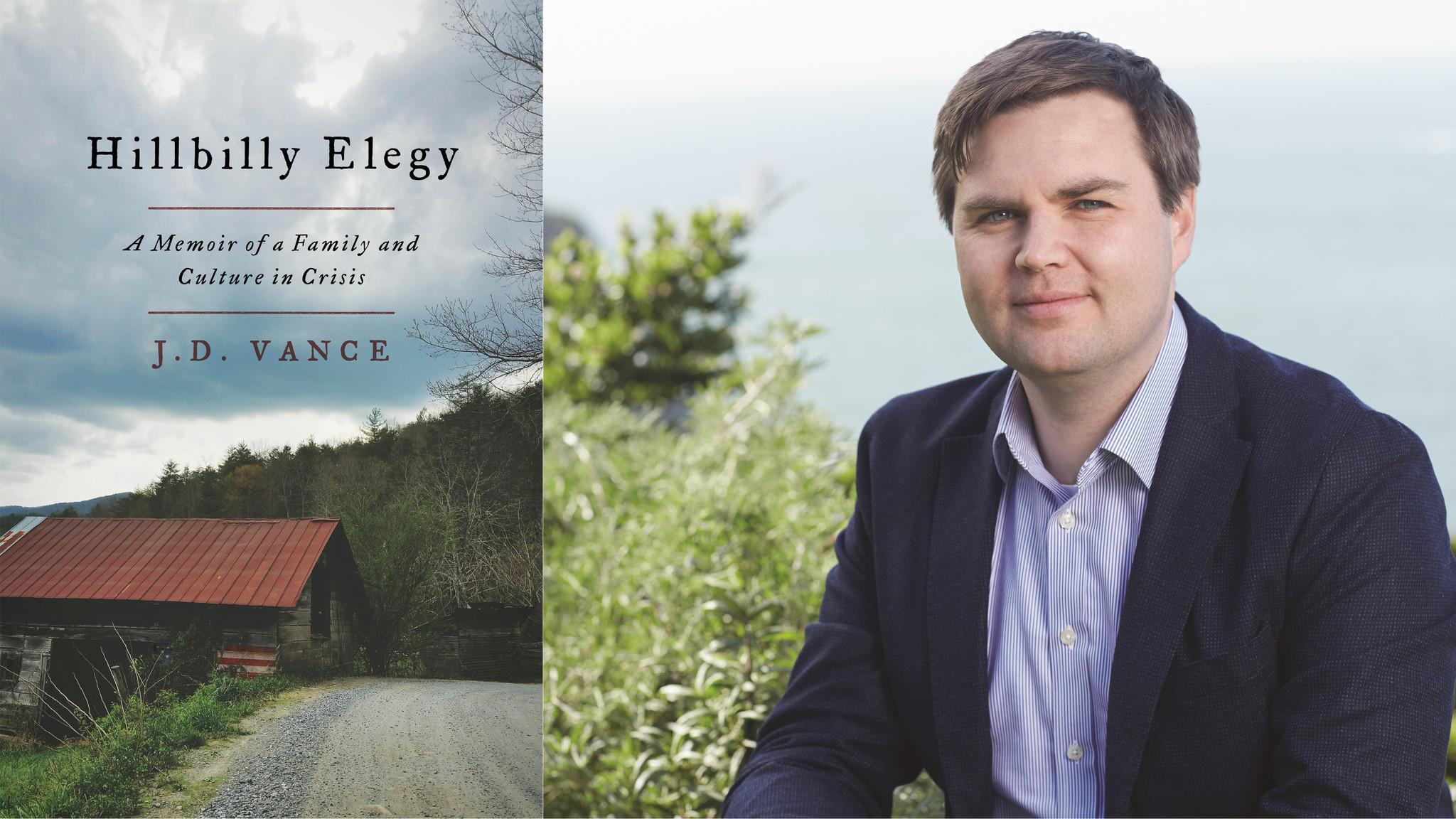"J.D. Vance is the author of ""Hillbilly Elegy."""