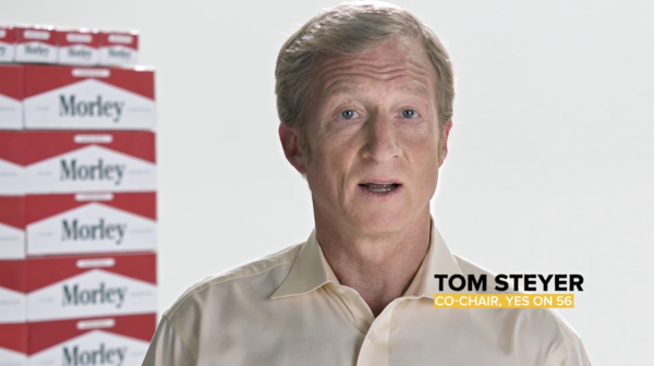 Tom Steyer in Yes on 56 ad (Yes on 56)