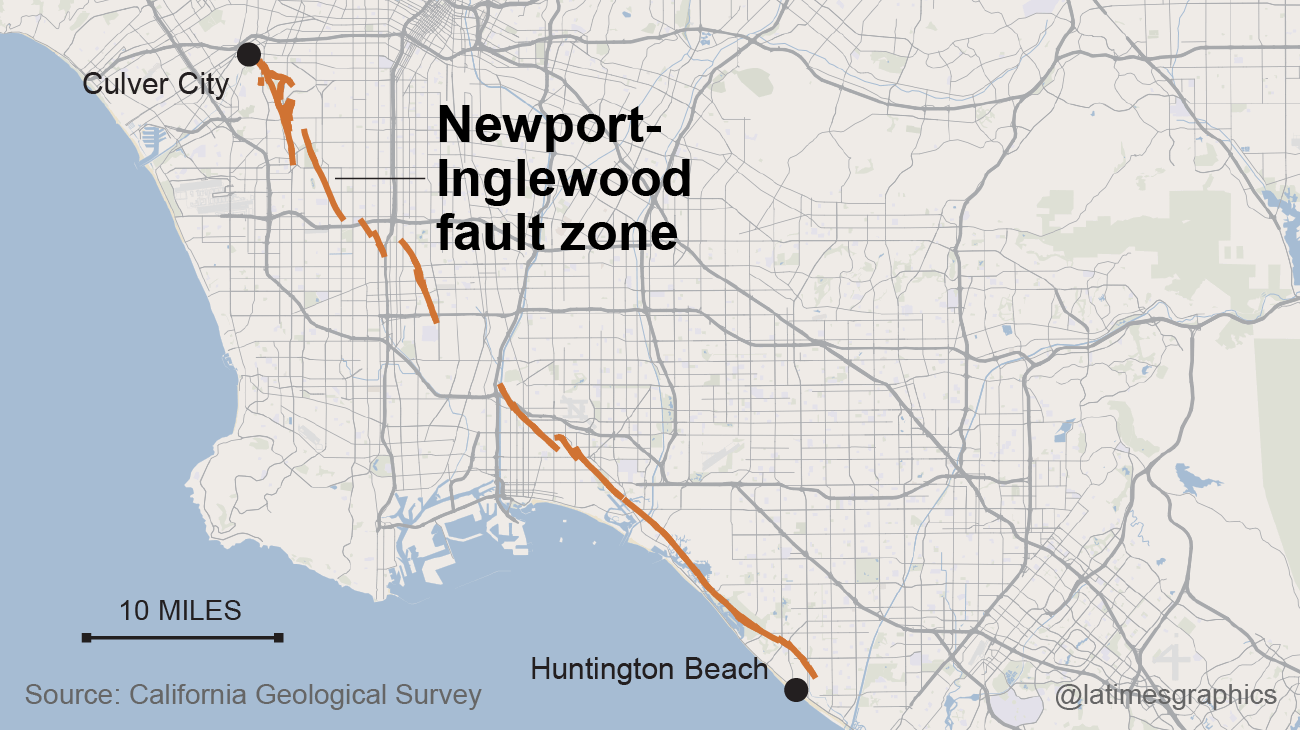 Earthquakes In California Are Discovered More Than  Miles Deep - Los angeles fault zone map