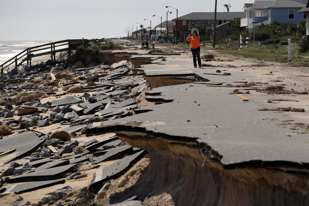 Wreckage in Flagler Beach, Fla., from Hurricane Matthew (Eric Gay / Associated Press)