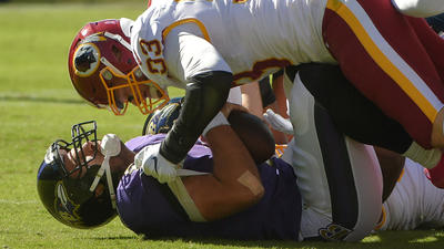Answers hard to find after Ravens offense starts and stops in 16-10 loss to Redskins